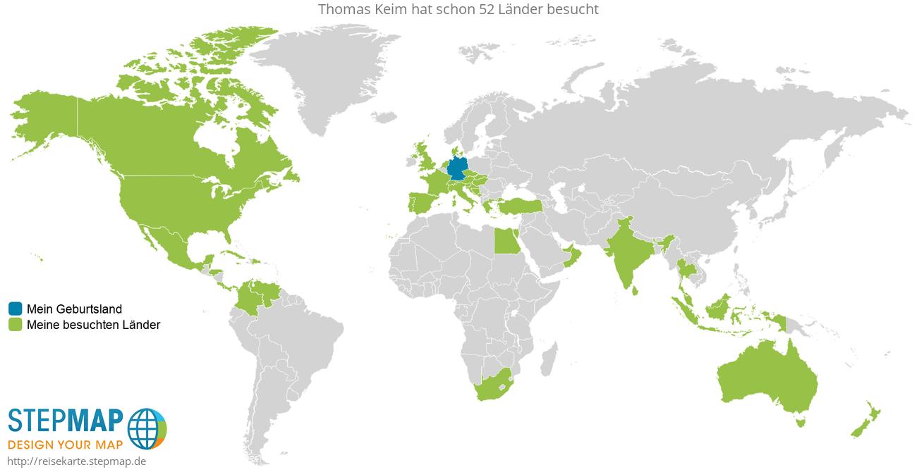 Reisekarte von Thomas Keim